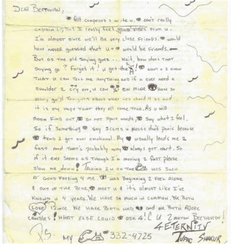 resume une simple lettre d amour tupac ex amie met en vente une lettre d amour