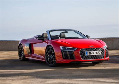 audi r8 2017 audi r8 v10 spyder arrives in the us from