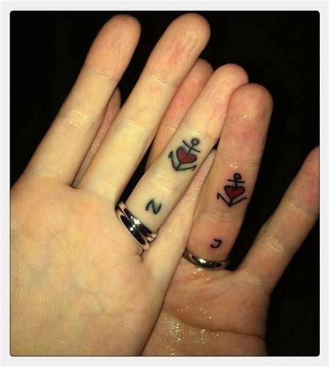 simple matching tattoos for couples 24 best couples anchor tattoos images on