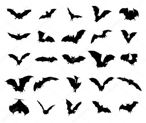 Set Bat bats silhouettes set stock vector 169 juliarstudio 87229294