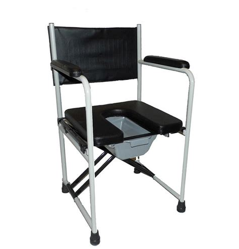 Folding Commode Chair by Deluxe Folding Padded Commode Chair And Pan