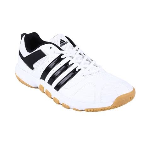 Sepatu Wanita Adidas 5 Stripe White Solid Jual Adidas Quickforce 5 Q35444 Sepatu Badminton White
