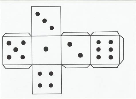 printable large dice template how to make a dice