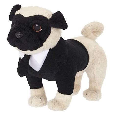 talking pugs in black 3 6 inch talking frank the pug plush jakks pacific in black