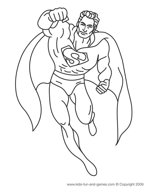 Free Superman Coloring Pages For Boys Superman Coloring Pages Free