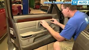 how to install remove front door panel 2000 05 vw how to install replace front door panel cadillac deville