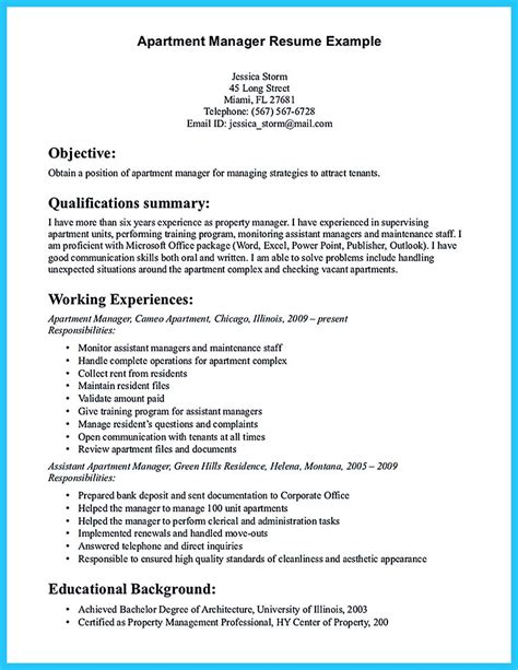 sle resume for leadership position property manager resume sle sle resumes resume for