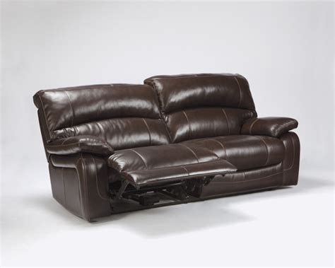 Damacio Dark Brown 2 Seat Reclining Sofa U9820081 Two Seater Leather Recliner Sofa
