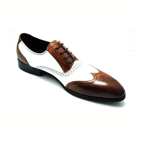 two tone mens shoes genuine two tone oxford leather wingtip formal dress