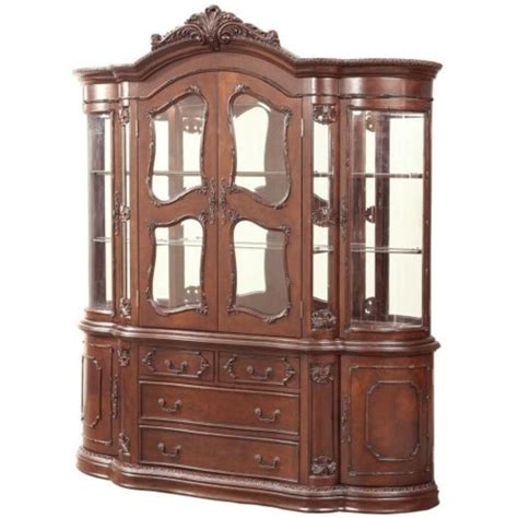 European China Cabinet by Coaster Jacques European China Cabinet In Cherry