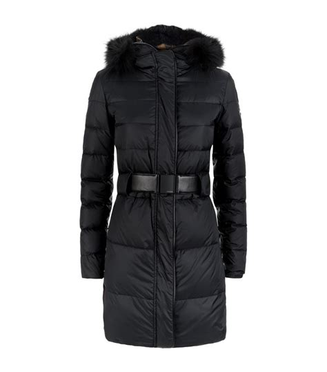 Quilted Coat With Fur by Fendi Fur Trim Quilted Coat In Black Lyst