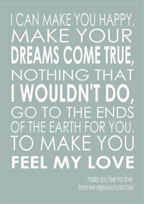 Give Your That Loving Feeling by Make You Feel My Song Lyric Quote Adele Bob