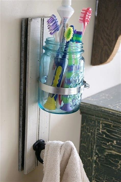 Drawer Toothbrush Holder by Free Up Counter And Drawer Space With A Jar