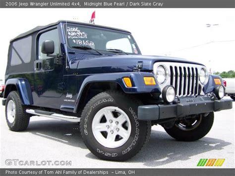 midnight blue jeep midnight blue pearl 2006 jeep wrangler unlimited 4x4