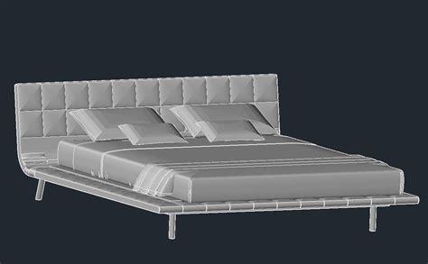 letto 3d dwg letto onda poliform systems scarica modelli 3d letti