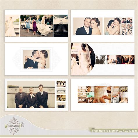photo album book layout wedding album template for photographers 35 00 via etsy