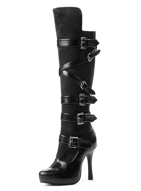 boots with buckles black