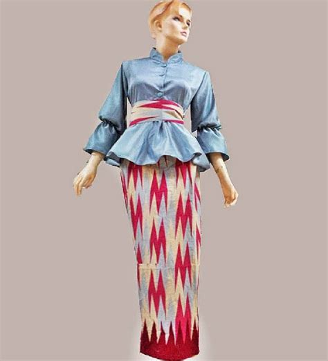 Hem Rang Rang Warna Series batik bagoes model batik dress motif rang rang