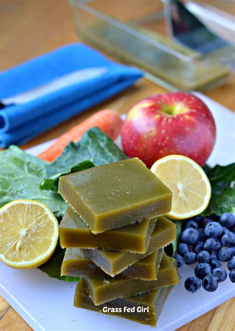 Geletin Detox green juice detox paleo gelatin gummies low carb gluten