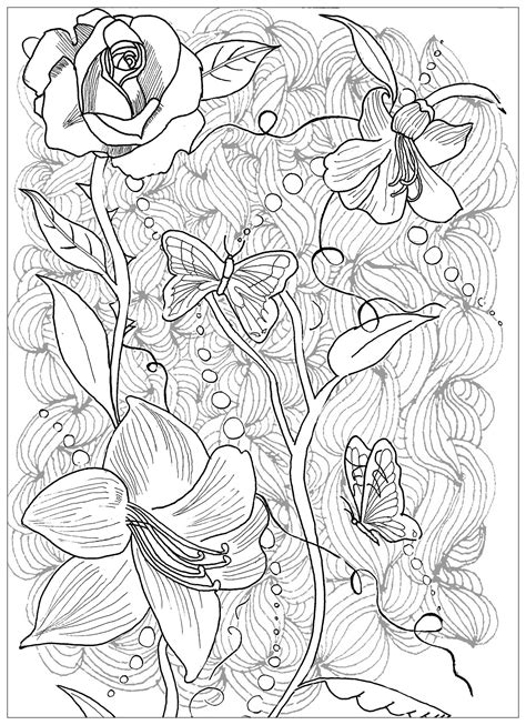 tattoo coloring pages page flowers butterfly tattoos coloring pages