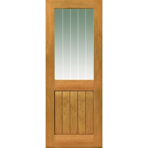 Jbkind Thames Ii Half Light Unfinished Oak Door Half Lite Interior Door