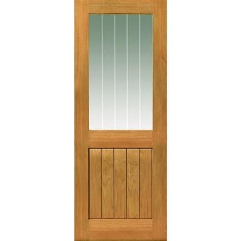 Half Lite Interior Door Jbkind Thames Ii Half Light Unfinished Oak Door