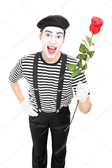 video format or mime not supported mime artist holding red rose stock photo