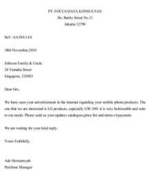 Enquiry Letter Template Inquiry Letter