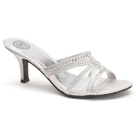 dressy slide sandals so s high heel slide dress sandals