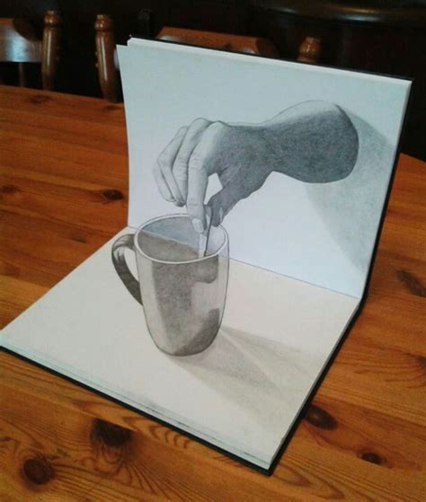 How To Make Paper Look 3d - 3d drawing just wow and it s only with a pencil and
