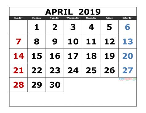 april  printable calendar templates  monthly calendar  printable  monthly
