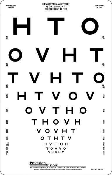 Snellen Chart For Visual Acuity 4 Meter hto visual acuity card 3m logmar charts optical