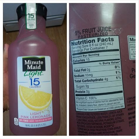 Minute Light Lemonade Calories by Shannon S Lightening The Load May 2013