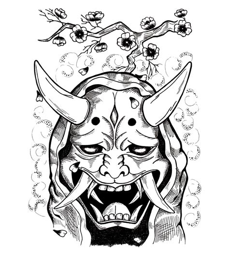 japaneese hannya mask by cchhrriis on deviantart