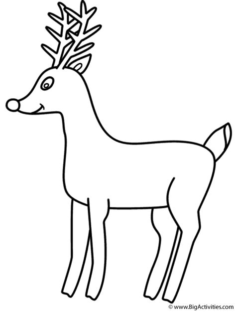 coloring pages deer rudolph rudolph the red nosed reindeer coloring page christmas