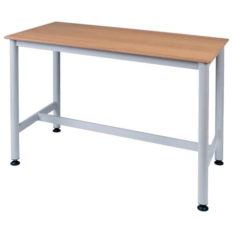 bench science proform school science bench beech top with grey frame 1200 x 600 x 850mm rapid online
