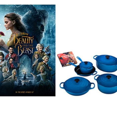 le creuset beauty and beast win a trip to beauty and the beast cookware granny s