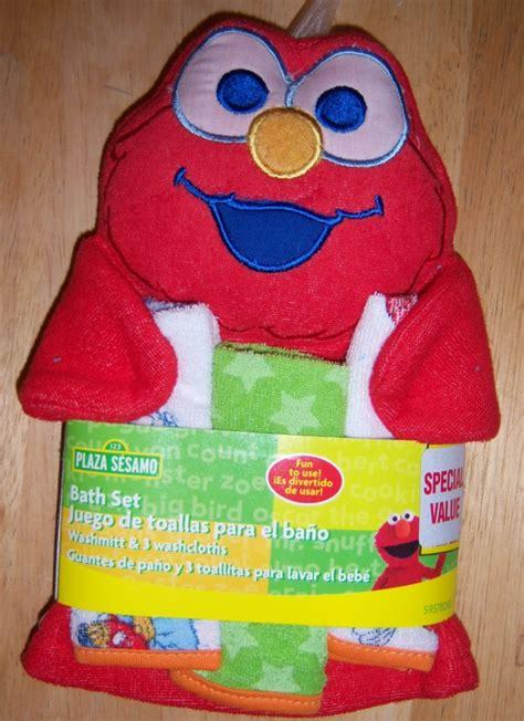 Elmo Baby Shower by Sesame Wash Mit 3 Cloths Elmo Big Bird Cookie