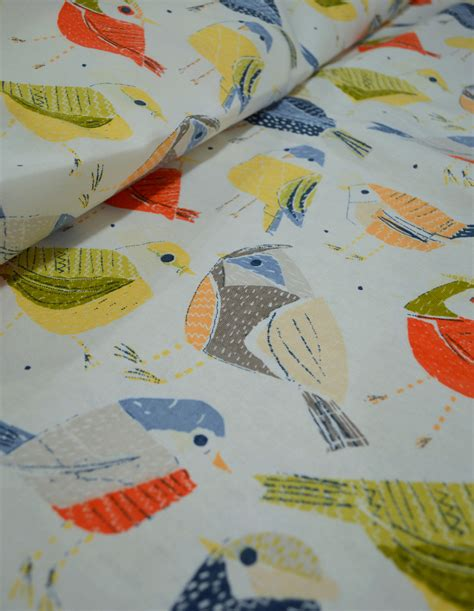 curtain fabric with bird print no sew diy curtains