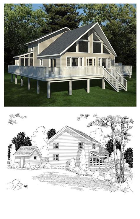 hillside home plans 49 best hillside home plans images on house