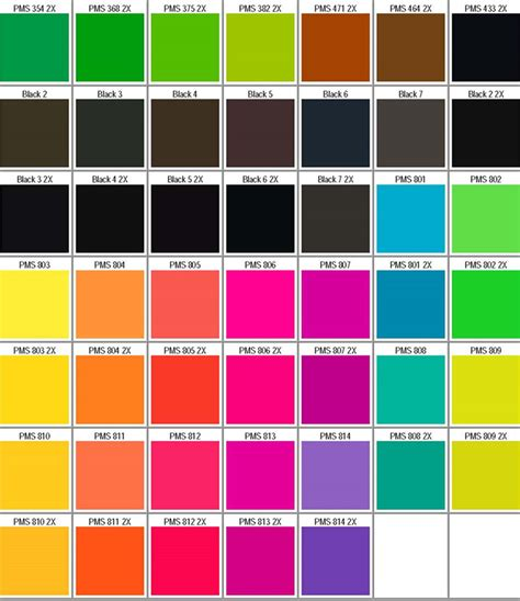 what is pms color sle pms color chart ideasplataforma