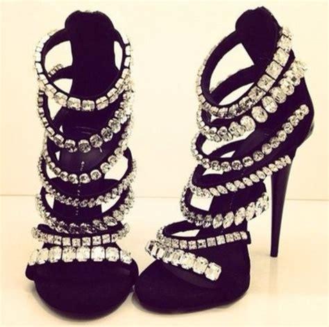 black high heels with diamonds shoes heels diamonds black diamonds black heels