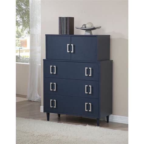 navy empire 2 door 3 drawer chest by i living