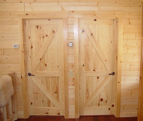 Pine Interior Door Rustic Lodge Log And Timber Furniture Handcrafted From Green Reclaimed Pine And Northern