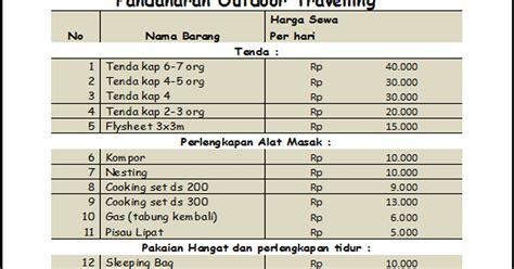 Harga Tenda Naik Gunung by Harga Tenda Cing Perlengkapan Outdoor Holidays Oo