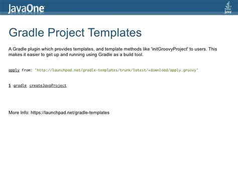 gradle project template gradle build tool that rocks with dsl javaone india 4th