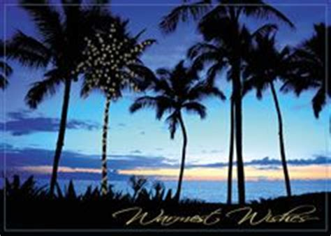 tropical beach scene personalized christmas cards