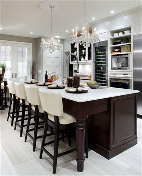 i m dreaming of a not white kitchen domestiphobia elegant kitchen design with cream leather barstools