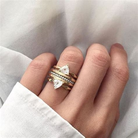Stacked L by Jewels Stacked Jewelry Stacked Ring Engagement Ring