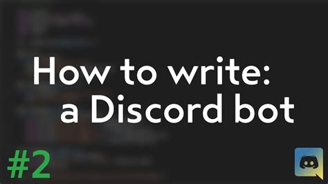 discord bot tutorial how to make your own discord bot discord py tutorial 2